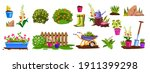 spring garden equipment nature...   Shutterstock .eps vector #1911399298