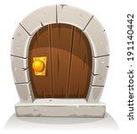 cartoon wooden and stone hobbit ... | Shutterstock .eps vector #191140442