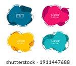 set of abstract modern liquid... | Shutterstock .eps vector #1911447688