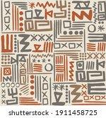 african mud cloth seamless...   Shutterstock .eps vector #1911458725