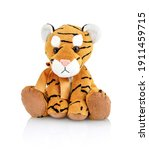 Tiger Plushie Doll Isolated On...