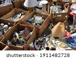 Small photo of Housewares on a flea market