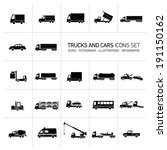 vector flat design trucks and... | Shutterstock .eps vector #191150162