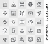 unique style icons for mobile... | Shutterstock .eps vector #1911516355