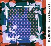 design for silk scarf  shawl ...   Shutterstock .eps vector #1911517915