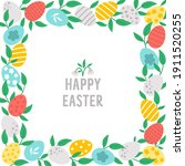 easter square greeting card... | Shutterstock .eps vector #1911520255