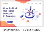 landing page template with... | Shutterstock .eps vector #1911542302