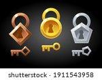 vector set of gold  bronze and... | Shutterstock .eps vector #1911543958