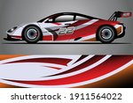 racing car decal wrap design.... | Shutterstock .eps vector #1911564022