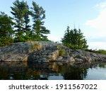 Pine Trees And Granite At...