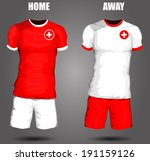 switzerland soccer jersey | Shutterstock .eps vector #191159126