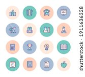 school and education flat style ... | Shutterstock .eps vector #1911636328