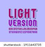 3d modern font  trendy multi...   Shutterstock .eps vector #1911643735