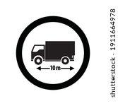 road traffic sign truck length...   Shutterstock .eps vector #1911664978