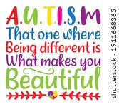 autism that one where being... | Shutterstock .eps vector #1911668365