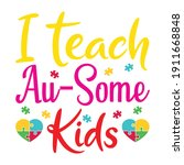 i teach au some kids | Shutterstock .eps vector #1911668848
