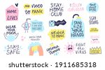 collection of hand drawn... | Shutterstock .eps vector #1911685318