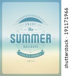 summer holidays vector... | Shutterstock .eps vector #191171966