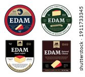 vector edam cheese labels and...   Shutterstock .eps vector #1911733345