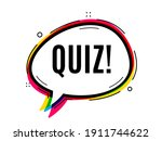 quiz symbol. speech bubble...   Shutterstock .eps vector #1911744622