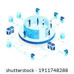 isometric 3d business... | Shutterstock .eps vector #1911748288
