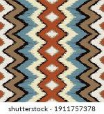 ikat border. geometric folk...   Shutterstock .eps vector #1911757378