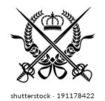 black and white heraldic design ...