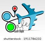 safe airplane flight concept...   Shutterstock .eps vector #1911786232