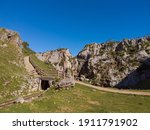 """The Buferrera mines at Covadonga, Cangas de Onis, Asturias, Spain.""""Las Minas de Buferrera"""" is a former iron and manganese mine. The mine remained active for over a century (1870-1979)."""
