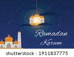 starry night background design... | Shutterstock .eps vector #1911837775