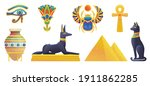 ancient egyptian symbols and... | Shutterstock .eps vector #1911862285