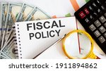 Word Writing Text Fiscal Policy ...
