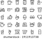 food line icon set   hot cup ... | Shutterstock .eps vector #1911913738