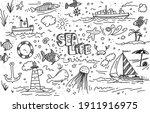 Sea Life Vector Hand Drawn...