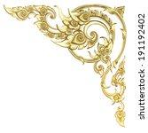 old antique gold frame stucco...   Shutterstock . vector #191192402