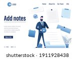 add notes   landing page... | Shutterstock .eps vector #1911928438