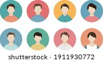 a set of various male round...   Shutterstock .eps vector #1911930772
