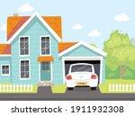 picture of quiet outdoor... | Shutterstock .eps vector #1911932308