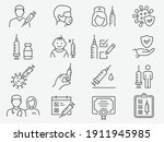 vaccine icons  such as syringe  ... | Shutterstock .eps vector #1911945985