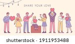 share your love. people are... | Shutterstock .eps vector #1911953488