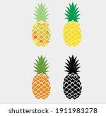 pineapple vector  pineapple... | Shutterstock .eps vector #1911983278