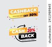 cashback banner template.... | Shutterstock .eps vector #1911989845