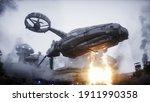 Futuristic Sci Fi Ship Take...