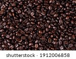 Texture Of Roasted Coffee Beans