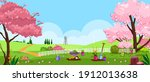 spring  summer vector garden ... | Shutterstock .eps vector #1912013638