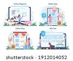 pet veterinarian online service ... | Shutterstock .eps vector #1912014052