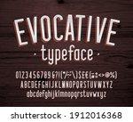 evocative alphabet font.... | Shutterstock .eps vector #1912016368