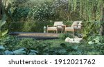 Wooden Terrace In The Tropical...