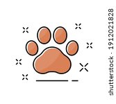cute icon animal pawprint in...   Shutterstock .eps vector #1912021828