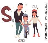 lovely alphabet   family.... | Shutterstock .eps vector #1912029568